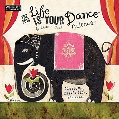 WSBL Life Is Your Dance 2018 12X12 Wall Calendar (18997001688)