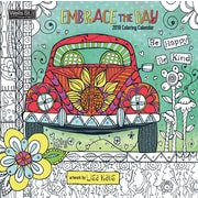WSBL Embrace The Day - Coloring 2018 Coloring 12X12 Wall Calendar (18996092002)