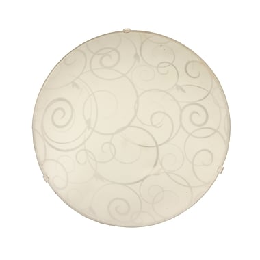 Simple Designs Incandescent Ceiling Light, Round White(FM3000-WHT)