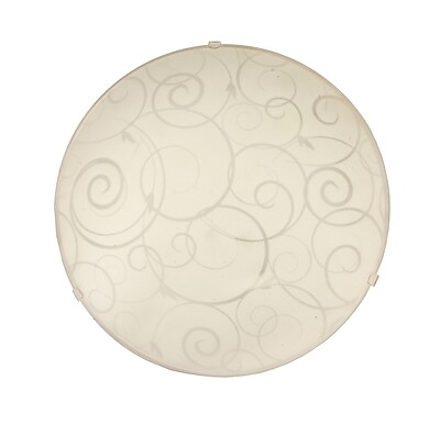 Simple Designs Incandescent Ceiling Light, Round White(FM3000-WHT)