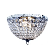 Elegant Designs Incandescent Flush Mount, Raindrop Chrome (FM1001-CHR)