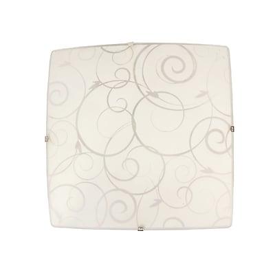 Simple Designs Incandescent Ceiling Light, Square White (FM3001-WHT)