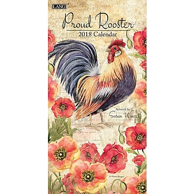 LANG Proud Rooster 2018 Vertical Wall Calendar (18991079127)