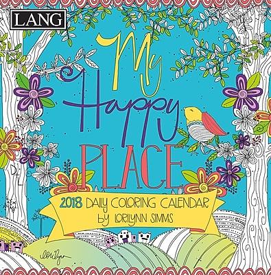LANG My Happy Place 2018 Box Calendar (Coloring) (18991023014)