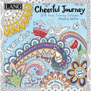 LANG Cheerful Journey 2018 Box Calendar (Coloring) (18991023013)