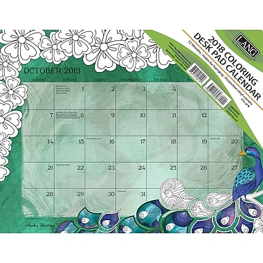 LANG Colorful Inspirations 2018 Deskpad (Coloring) (18991021022)