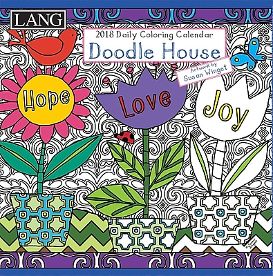 LANG Doodle House 2018 Box Calendar (Coloring) (18991023012)