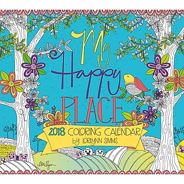 LANG My Happy Place 2018 Coloring Wall Calendar (18991019107)