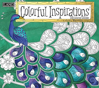 LANG Colorful Inspirations 2018 Coloring Wall Calendar (18991019108)