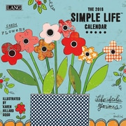 LANG Simple Life 2018 Mini Wall Calendar (18991079245)