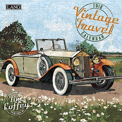 LANG Vintage Travel 2018 Mini Wall Calendar (18991079263)