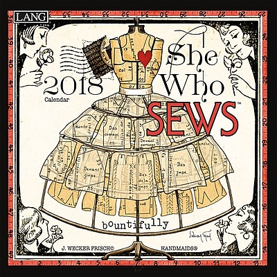 LANG She Who Sews 2018 Mini Wall Calendar (18991079262)