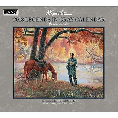 LANG Legends In Gray 2018 Wall Calendar (18991001923)