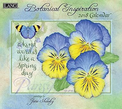 LANG Botanical Inspiration 2018 Wall Calendar (18991001896)