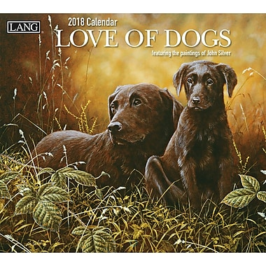 LANG Love Of Dogs 2018 Wall Calendar (18991001927)