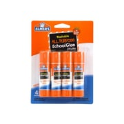Elmer's Permanent Glue Sticks, 0.24 oz., 4/Pack (E542)