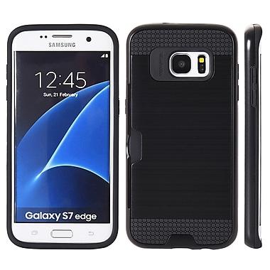 Hyrbid Card Back Cover Case for Samsung Galaxy S7 Edge