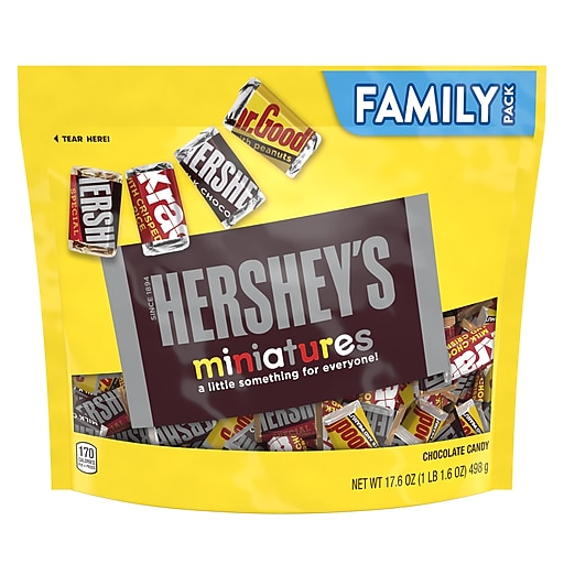 Hershey's Miniatures Chocolate, Variety, 17.6 oz., 12/Carton (HEC21491)