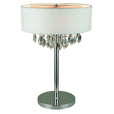 Elegant Designs Table Lamp, White (LT1023-WHT)