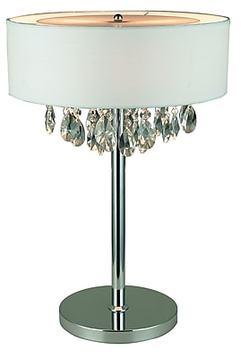Elegant Designs Table Lamp, White (LT1023-WHT)