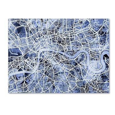 Trademark Fine Art Michael Tompsett 'London England Street Map B&W' 14
