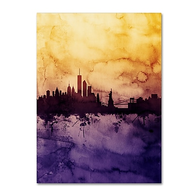 Trademark Fine Art Michael Tompsett 'New York Skyline Tall Yellow' 14