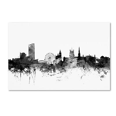 Trademark Fine Art Michael Tompsett 'Sheffield England Skyline B&W' 12