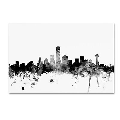 Trademark Fine Art Michael Tompsett 'Dallas Texas Skyline B&W' 12