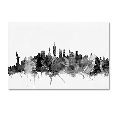 Trademark Fine Art Michael Tompsett 'New York City Skyline B&W' 12