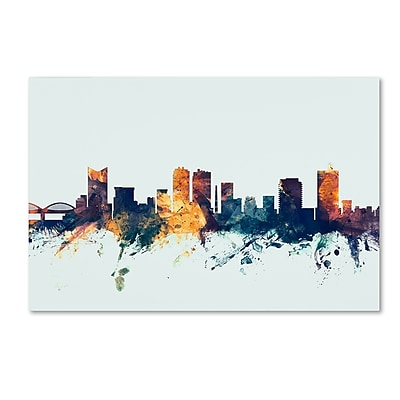 Trademark Fine Art Michael Tompsett 'Fort Worth Texas Skyline Blue' 12