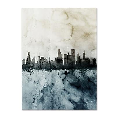 Trademark Fine Art Michael Tompsett 'Chicago IL Skyline Tall 2 ' 14