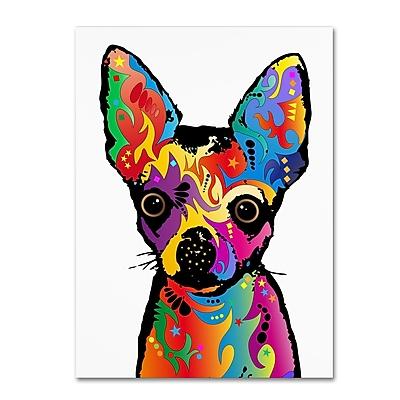 Trademark Fine Art Michael Tompsett 'Chihuahua Dog White' 14