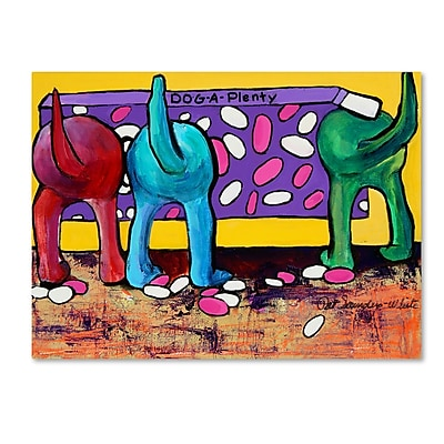 Trademark Fine Art Pat Saunders-White 'Dog-A-Plenty' 14