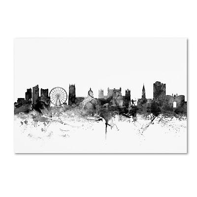 Trademark Fine Art Michael Tompsett 'Nottingham England Skyline B&W' 12