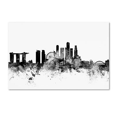 Trademark Fine Art Michael Tompsett 'Singapore Skyline B&W' 12