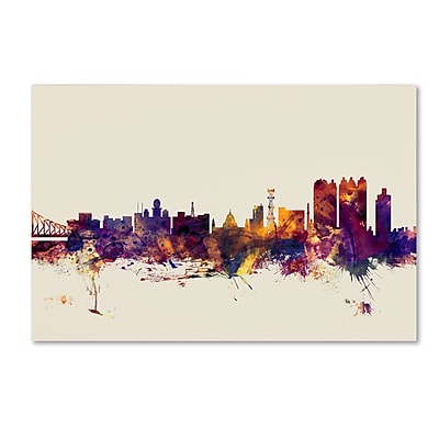 Trademark Fine Art Michael Tompsett 'Calcutta India Skyline' 12