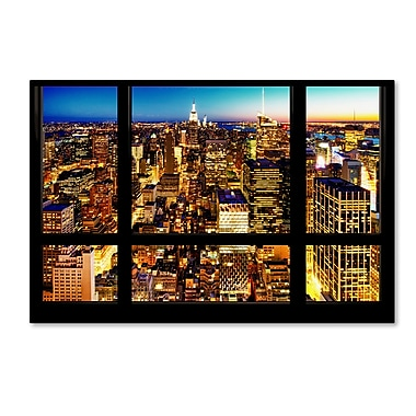 Trademark Fine Art Philippe Hugonnard 'Night View of Manhattan' 12