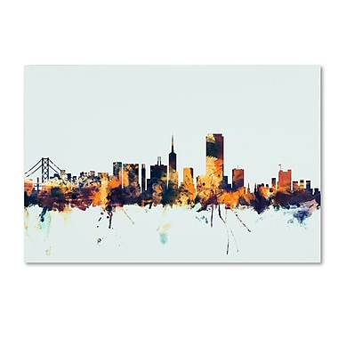 Trademark Fine Art Michael Tompsett 'San Francisco Skyline Blue' 12