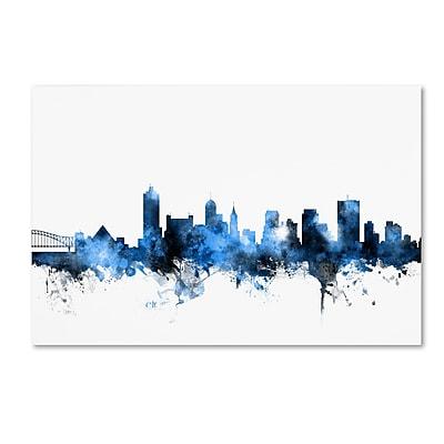 Trademark Fine Art Michael Tompsett 'Memphis TN Skyline White' 12