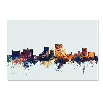 Trademark Fine Art Michael Tompsett 'El Paso Texas Skyline Blue' 12