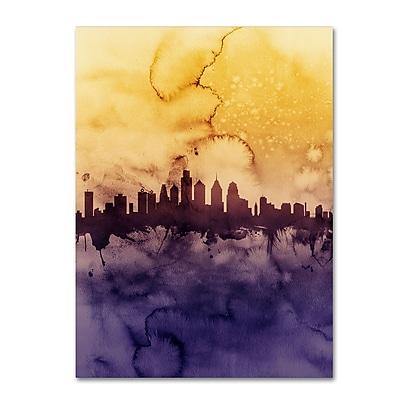 Trademark Fine Art Michael Tompsett 'Philadelphia PA Skyline Tall' 14