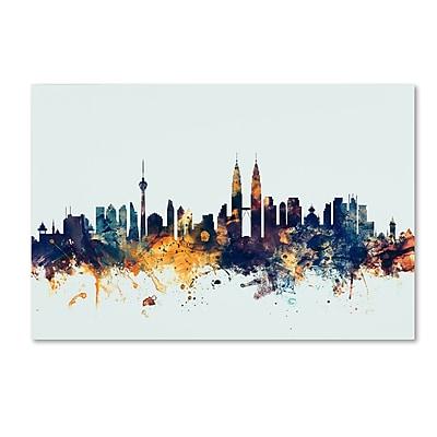 Trademark Fine Art Michael Tompsett 'Kuala Lumpur Skyline Blue' 12