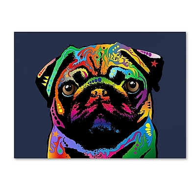 Trademark Fine Art Michael Tompsett 'Pug Dog' 14