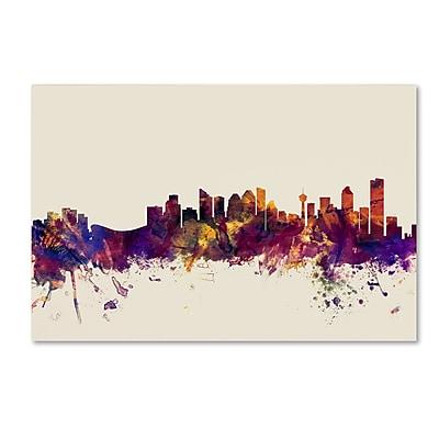 Trademark Fine Art Michael Tompsett 'Calgary Canada Skyline' 12