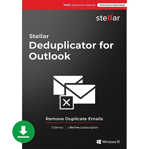 Stellar Outlook Duplicate Remover for 1 User, Windows, Download (TRGHMCTG4P2W28C)