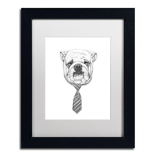 "Trademark Fine Art Balazs Solti 'Bulldog' 11"" x 14"" Matted Framed (190836178988)"