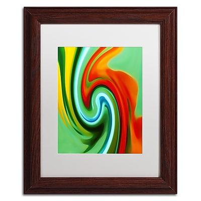 Trademark Fine Art Amy Vangsgard 'Abstract Flower Unfurling Vertical 2' 11
