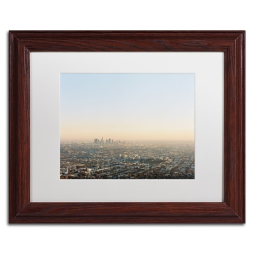 "Trademark Fine Art Ariane Moshayedi 'Downtown Los Angeles' 11"" x 14"" Matted Framed (190836267187)"