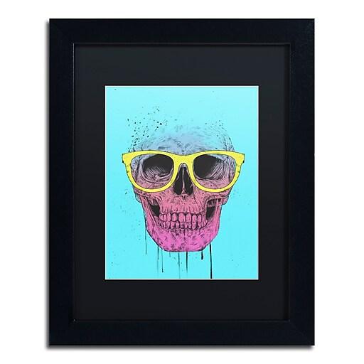 "Trademark Fine Art Balazs Solti 'Pop Art Skull With Glasses' 11"" x 14"" Matted Framed (190836177844)"