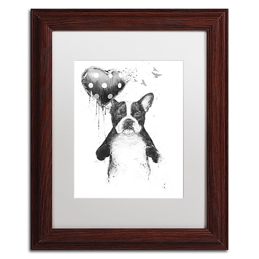 "Trademark Fine Art Balazs Solti 'My Heart Goes Boom' 11"" x 14"" Matted Framed (190836179510)"
